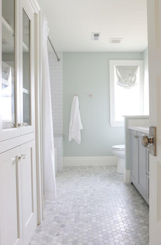 marble hexagon bathroom floor tiles for a luxurious touch