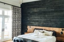 13 unique charred wall for a master bedroom