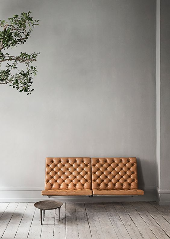 leather wall mounted sofa