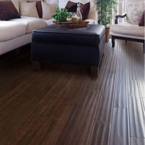 dark textural flooring to add a luxurious touch