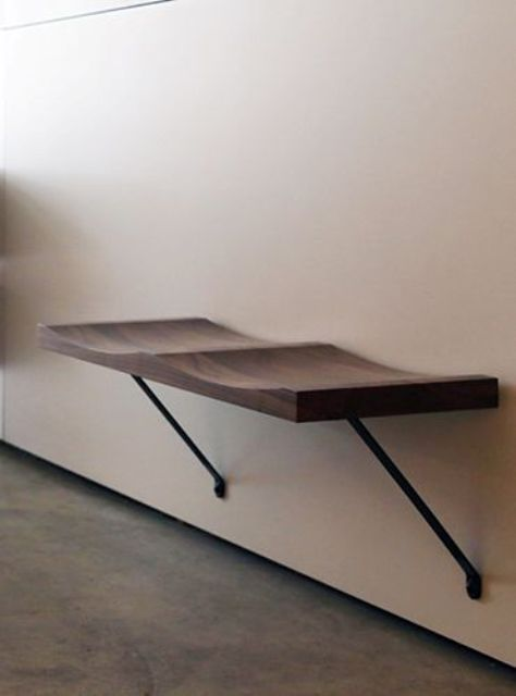 modern wall-mounted seats for a hallway