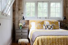 15 wood paneling that echoes with floors and beams