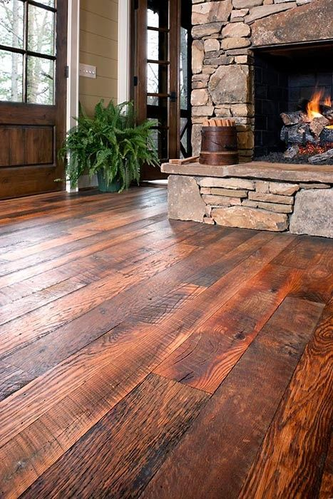 barnwood style floors are ideal for a rustic living room