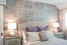 16 whitewashed reclaimed wood to highlight the shabby chic decor