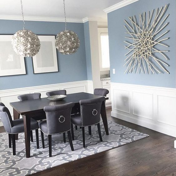 33 wainscoting ideas with pros and cons digsdigs - Colorful dining room tables ...