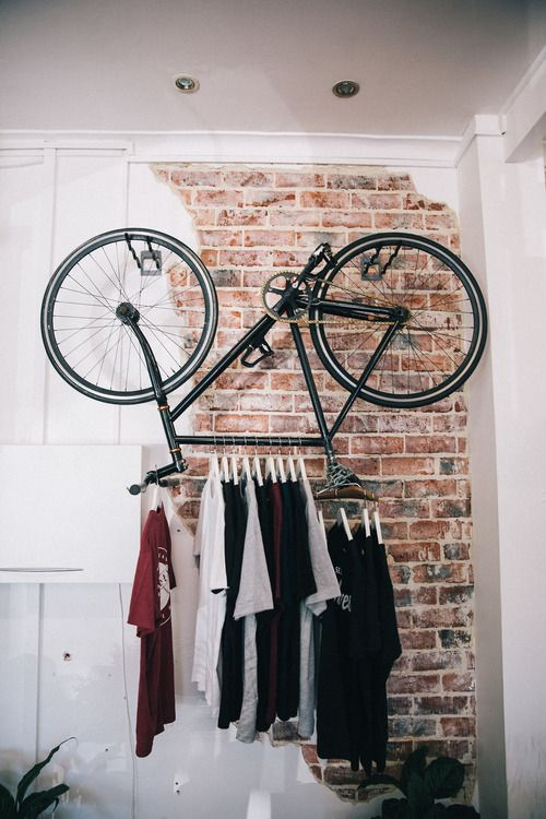 old bike shelf for an industrial space