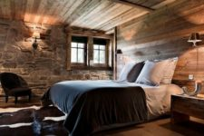 17 stone and wood are traditional for cabin interiors
