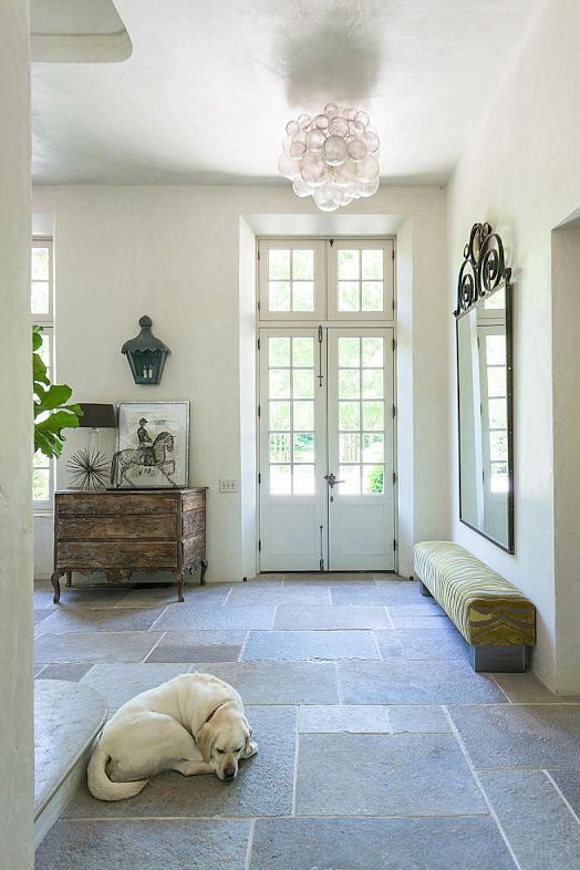 25 stone flooring ideas with pros and cons digsdigs for Mudroom floors