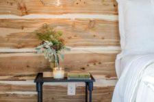 17 warm textural wood for a rustic bedroom