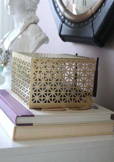 stylish patterned box to cover your router