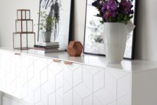 19 IKEA cabinets with geometric fronts can be lit to accentuate them