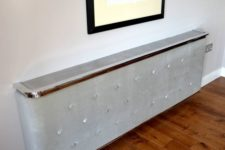 19 upholstered soft touch fabric radiator covers with cast aluminium detailing