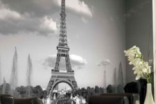 20 Eiffel Tower mural adds chic and exquisiteness to every space