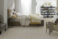 20 chevron-patterned carpet flooring to match the decor