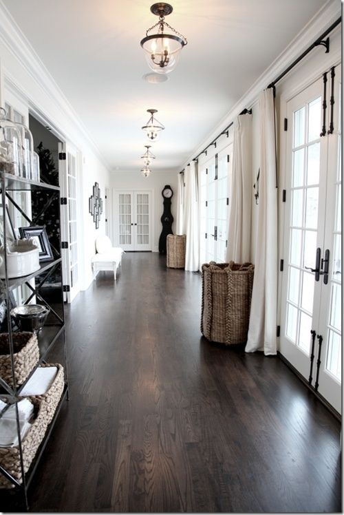 dark hardwood floors for an entryway to make it look luxurious