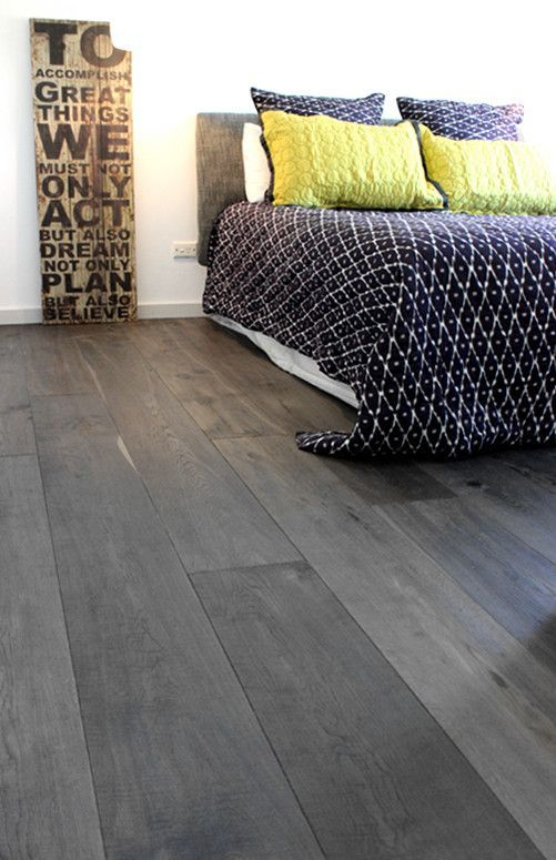 grey bamboo floors for a modern bedroom