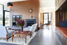 20 polished concrete floors are rather cold, so you can add comfy rugs