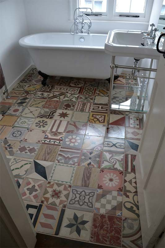 encaustic patchwork tiles for a bold touch