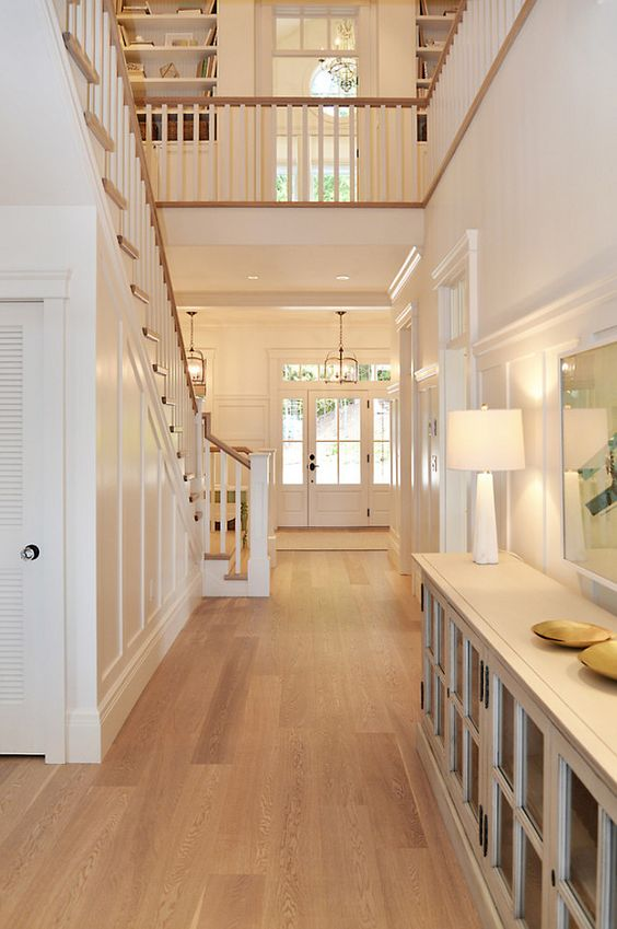 31 hardwood flooring ideas with pros and cons digsdigs - Home designer stairs with landing ...