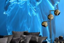 22 iceberg photo wall mural is an eye-catchy feature in this room