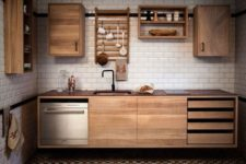 22 modern wall-mounted kitchen cabinets make your space look airy