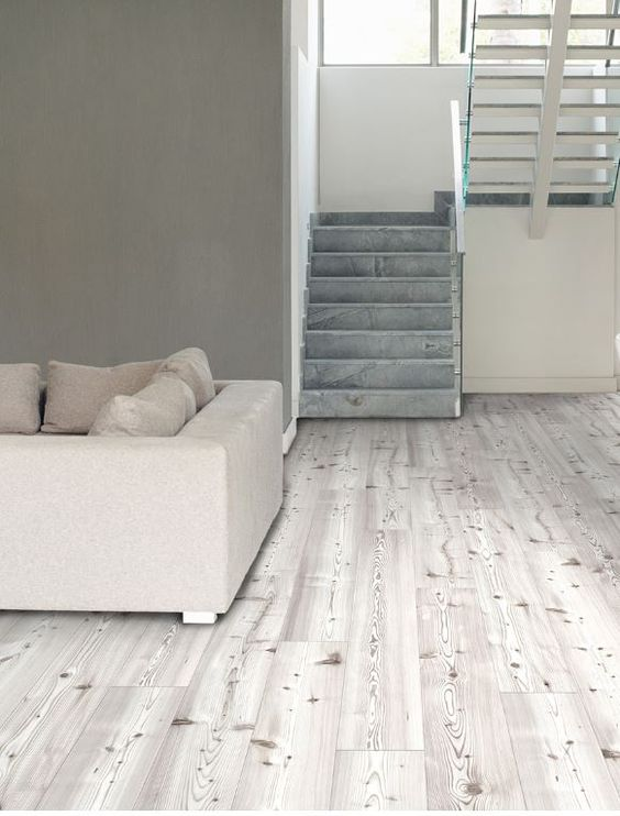 Cozy Whitewashed Printed Cork Flooring Tiles
