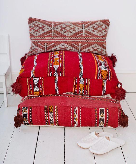 Moroccan kilim floor cushions