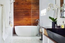 24 cognac-colored wood to bring a cozy and eye-catching touch