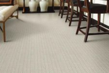 24 loop pile carpet floors for a dining area