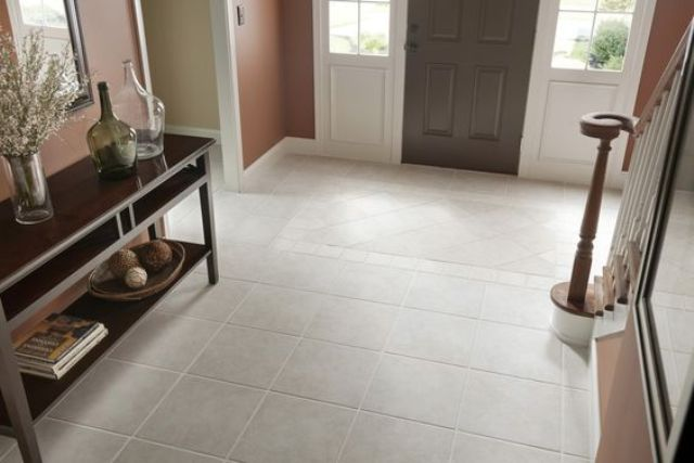 resilient tiles are the best one for the area of excessive movement, any other will break