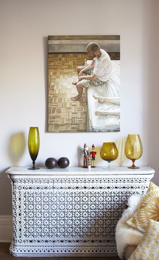 decorative patterned radiator screen
