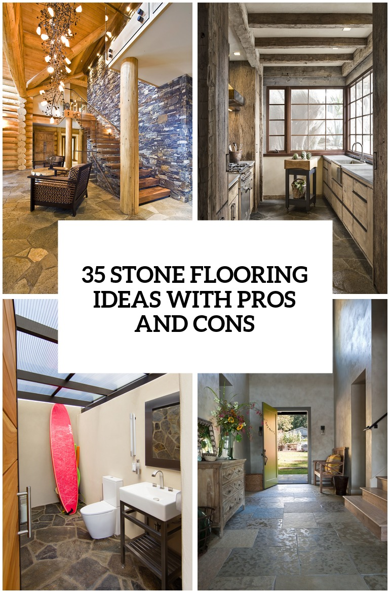 35 Stone Flooring Ideas With Pros And Cons