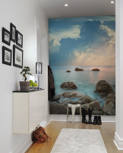 style your entryway with a cool seascape mural to inspire adventures