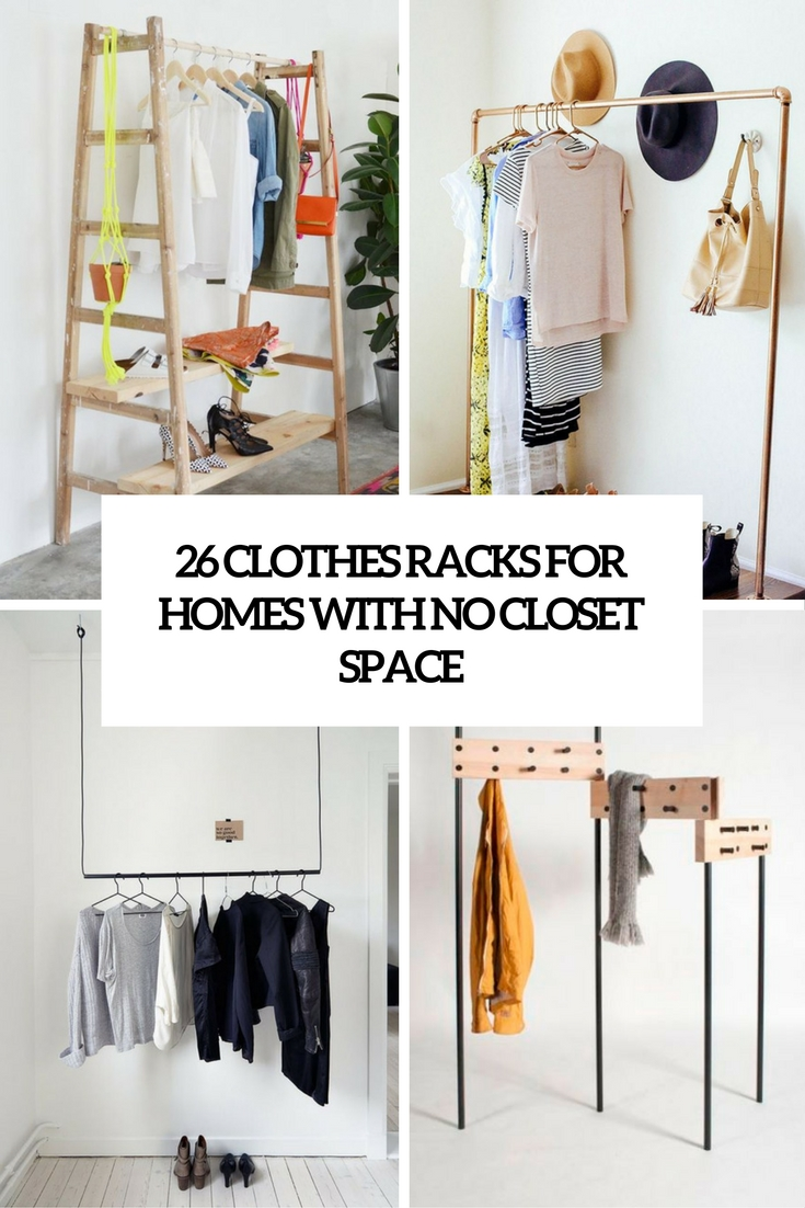 26 clothes racks for homes with no closet space digsdigs - Room with no closet ...