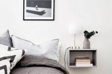 26 minimalist nightstand shelf to highlight the modern decor