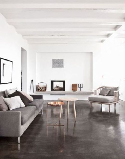 muted painted concrete for a calm neutral room