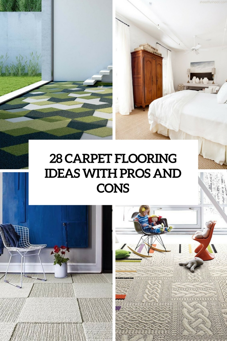 carpet flooring ideas with pros and cons cover