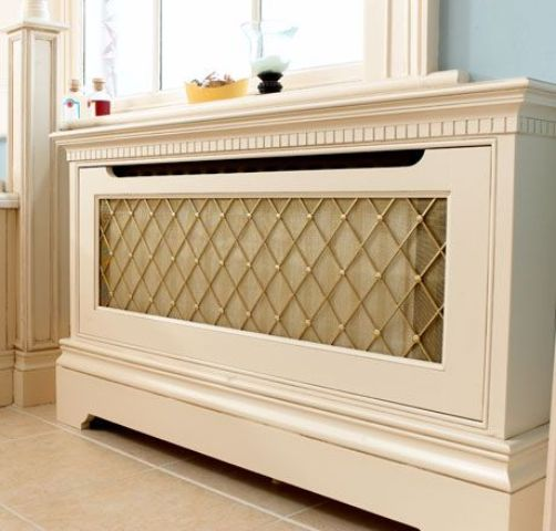 stylish radiator screen for a traditional interior