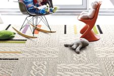 28 sweater-pattern thick carpet flooring to make a kid's room cozier