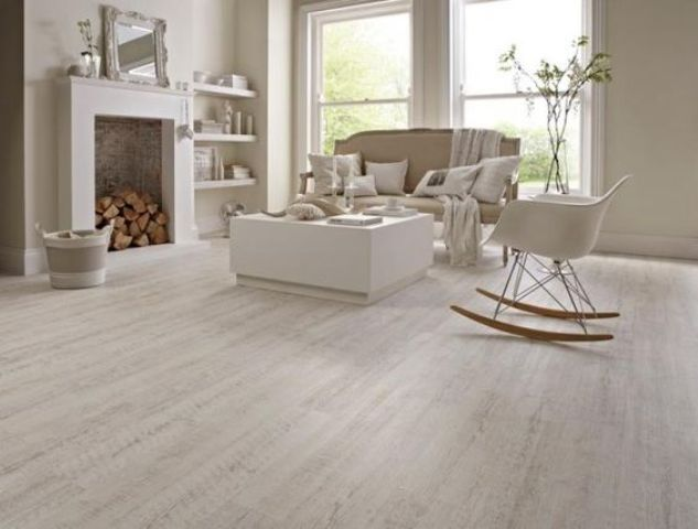 vinyl with a white-painted oak effect for a living room