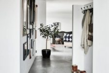 29 concrete floors are durable and water-resistant, which makes them perfect for entryways