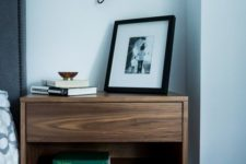 29 cool modern nightstand with a drawer completes the bedorom decor