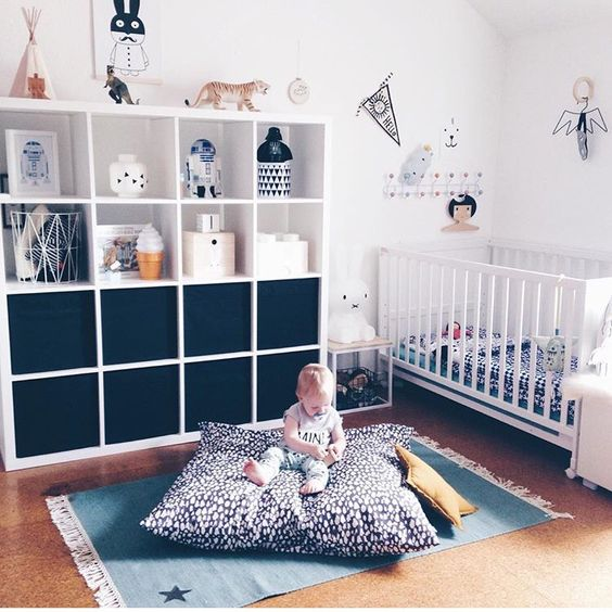 cork floors for a clean nursery and no bacteria