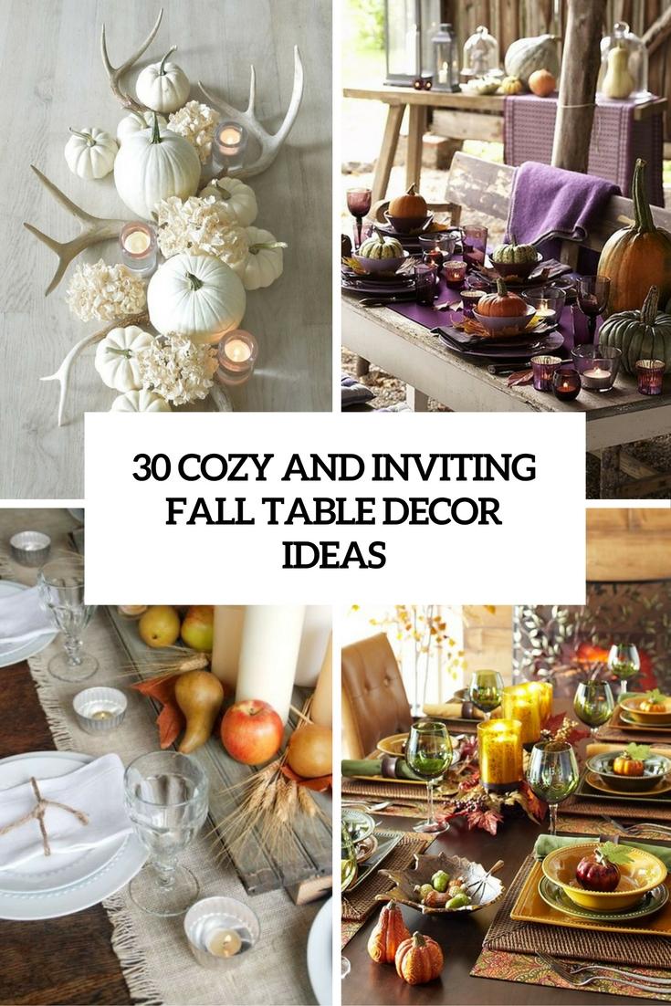 30 cozy and inviting fall table d cor ideas digsdigs for Pictures of fall table decorations