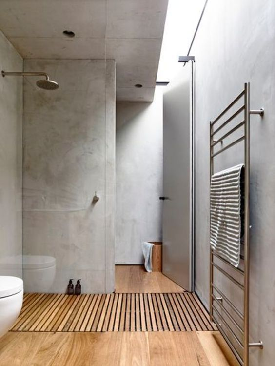 using bamboo floors for the shower is possible if you treat them with oil