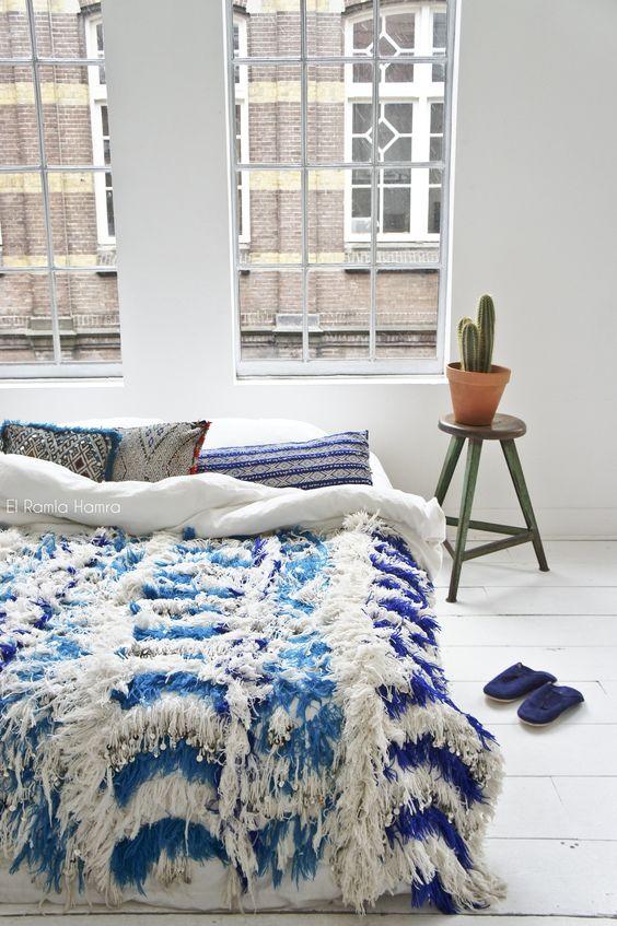 30 vintage Moroccan wedding blanket, handira