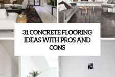 31 concrete flooring ideas with pros and cons cover