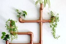 31 copper PVC wall planter