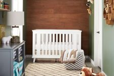 31 simple wooden wall for a woodland-themed nursery