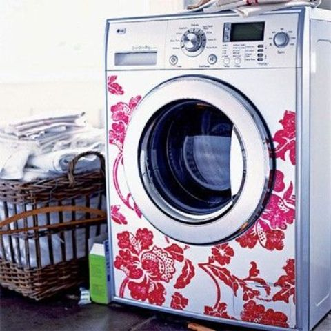 wall decals is a great idea for decorating any appliance